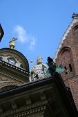 Temple In Wawel Castle. Krakow. Poland. Medieval History Memorial poster