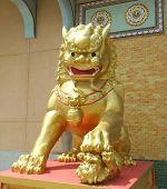 Постер, плакат: Лев золотой Императорского Страж женщины