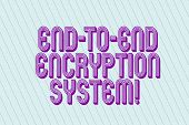 Handwriting Text End To End Encryption System. Concept Meaning Method Used For Securing Encrypted Da poster