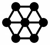 Node Connections Vector Icon Symbol. Flat Pictogram Is Isolated On A White Background. Node Connecti poster