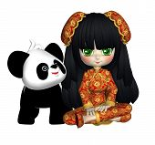 China Doll With Panda