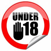 Under eighteen vector sign