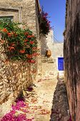 image of hydra  - A picturesque alley on the Greek island Hydra - JPG