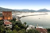 Red Tower (Kizil Kule) And Alanya City, Turkey