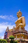 Big Golden Buddha At Wat Sing Buri  Province, Thailand