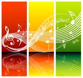 image of musical note  - Fresh music theme  - JPG