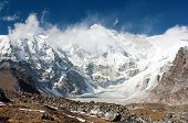 image of cho-cho  - view of cho oyu with beautiful clouds - JPG