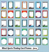 stock photo of softball  - Collection of mixed sports trading card picture frames - JPG