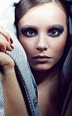 Stylish Girl Portrait With Fashion Makeup