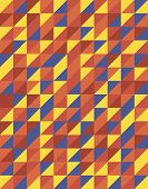 Retro Triangular Pattern Design, Vector Of Abstract Background