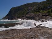Itacoatiara beach in Niteroi Brazil