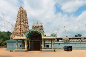 Big Hindu Temple With The Big Tower (gopuram)
