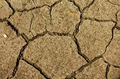 Cracked Soil. Cracked Mud Representing Drought Or Implying Global Warming