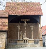 Crucifixes In Old Town Of Bad Wimpfen Germany