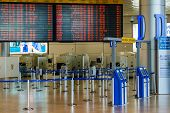 Empty Hall In Israeli Airport Ben Gurion On Saturday (shabbat)