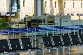 Empty Seats And Stopped Airport Equipment In Saturday (shabbat)