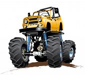 Cartoon Monster Truck one-click reaint