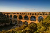Panorama Of Pont Du Gard