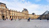 Louvre Palace And Pyramid, Paris