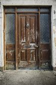 stock photo of passy  - close up detail of an old door