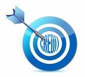 Target Credit Concept Illustrations Design