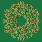 Arabic circular frame