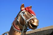 picture of great horse  - horse sculpture on the great wall north china - JPG