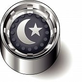 Rubber button round faith islam