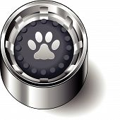 Rubber button round paw print cat