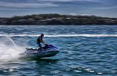 Fast jet ski fun in Bundeena Bay, Australia