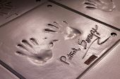 Handprints Of Patrick Swayze