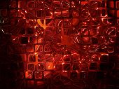 Futuristic Abstract Background Made From Red Transparent Cubes.