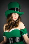 woman dressed as a leprechaun