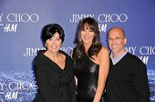 Marilyn Katzenberg, Tamara Mellon and Jeffrey Katzenberg   at the Jimmy Choo For H&M Collection, Pri