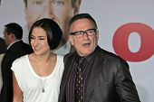 Zelda Williams and father Robin Williams  at the