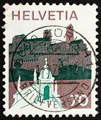Postage Stamp Switzerland 1973 Village In Sopraceneri