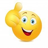 pic of emoticons  - Emoticon showing thumb up - JPG