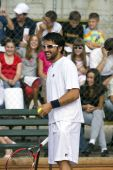 Banja Luka - June 9 - Davis Cup Selection Members Nenad Zimonjic And Janko Tipsarevic Play Friendly