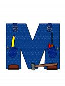 stock photo of letter m  - The letter M in the alphabet set  - JPG