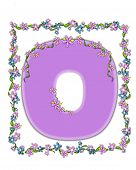 Alphabet Daisy Fair Lilac O