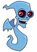 picture of banshee  - Vector cartoon illustration of a spooky demon ghost character - JPG