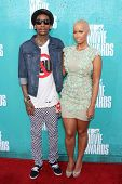 Wiz Khalifa and Amber Rose at the 2012 MTV Movie Awards Arrivals, Gibson Amphitheater, Universal Cit