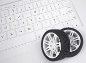 Car wheels on the keyboard