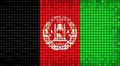 Flag Of Afghanistan Lighting On Led Display