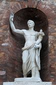 Medieval Statue In Rome