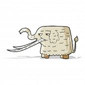 stock photo of mammoth  - cartoon woolly mammoth - JPG