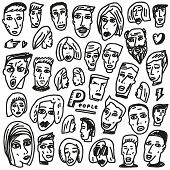 Faces - doodles collection