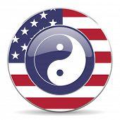 ying yang american icon