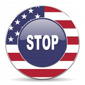 stop american icon