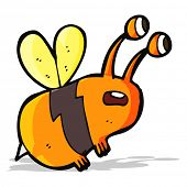 cartoon frightened bee